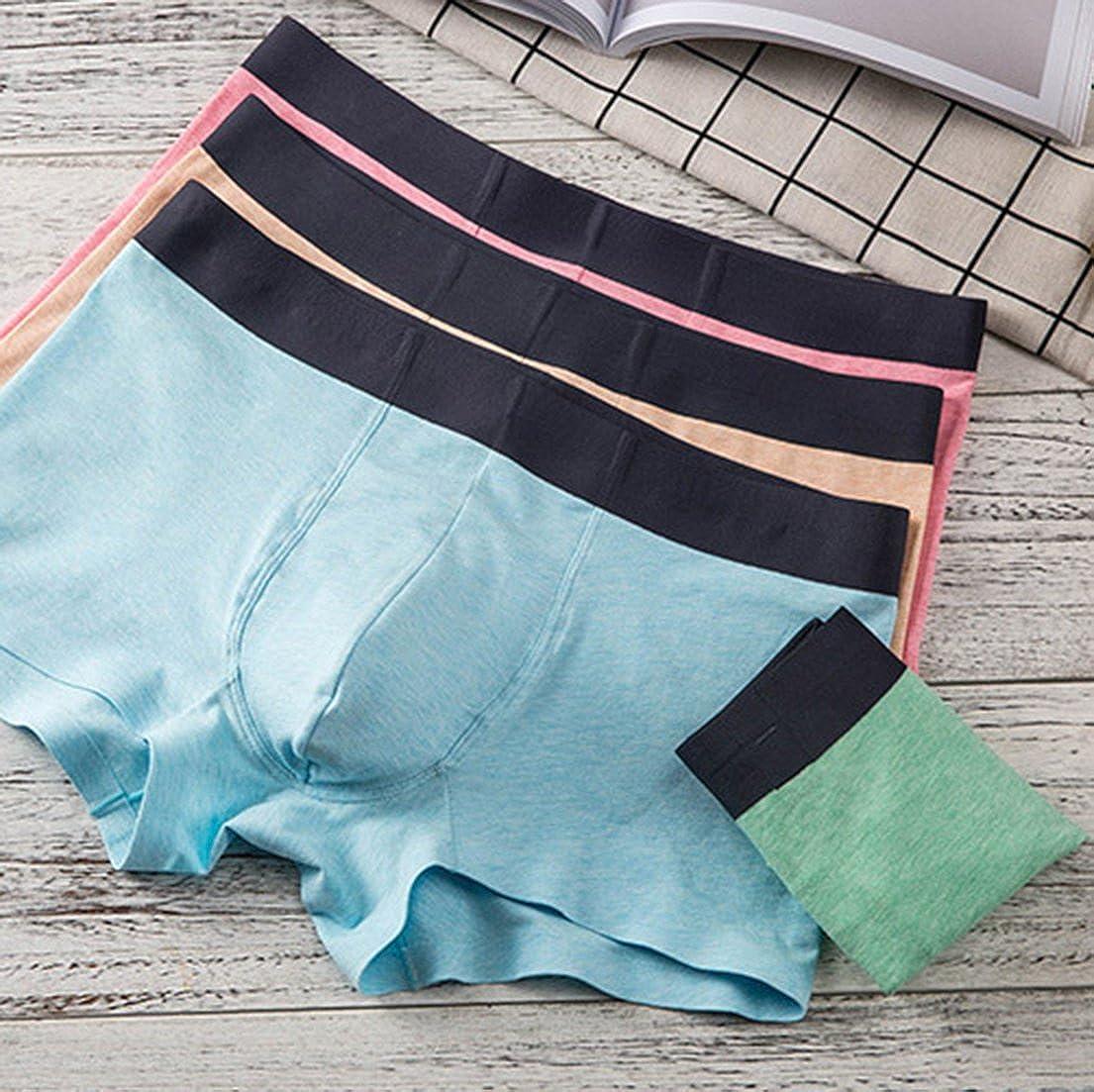 Femaroly Boy Short Boxer Brief 3-Pack Stretch Cozy Underwear for Men