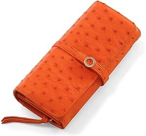 57a751421688 Amazon   オーストリッチ レザー ハーフポイント 多機能 婦人財布 ...
