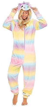 Slumber Hut® Ladies Unicorn Onesie Fleece Rainbow Luxury Hooded Womens  Novelty All in One Pyjamas 1065a7950