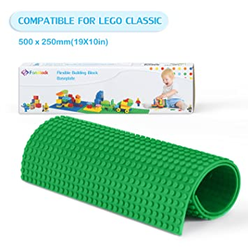 Lego 4 Lime Green 1x8 base plate NEW
