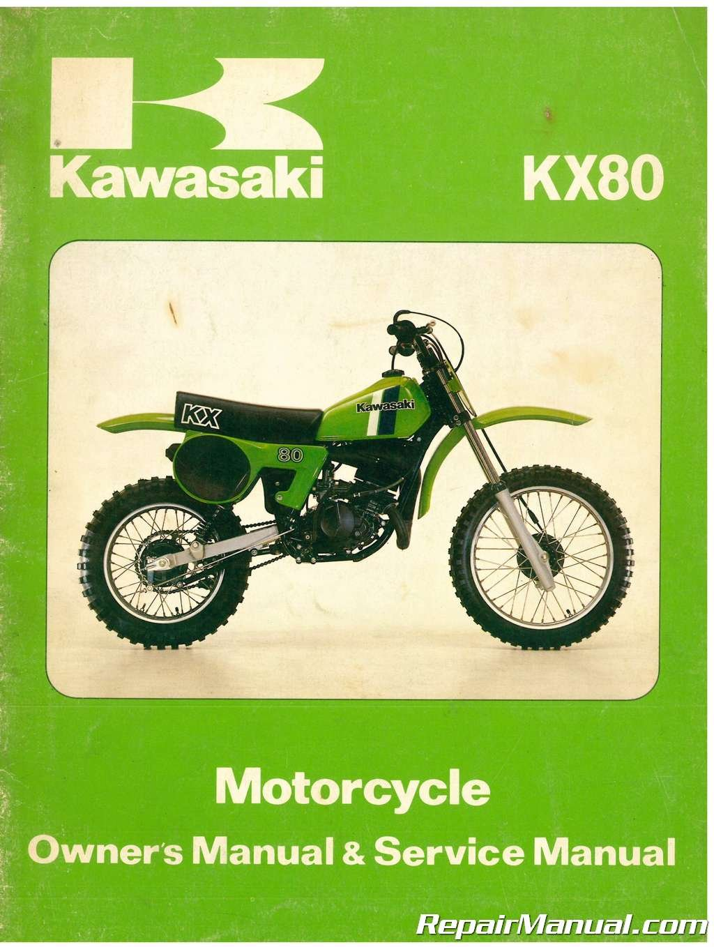 U99920-1085-01 Used 1979-1980 Kawasaki KX80 Motorcycle Owners Service Manual:  Manufacturer: Amazon.com: Books