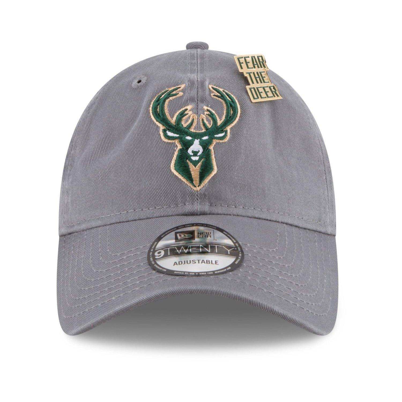 New Era Milwaukee Bucks NBA Draft 2018 9Twenty Strapback Cap Hat Grey  11609247 (Size OS) at Amazon Men s Clothing store  241ddf6ff909