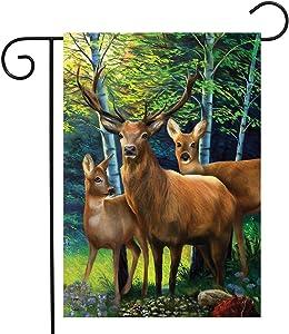 Briarwood Lane Deer Family Summer Garden Flag Buck Doe Wildlife 12.5