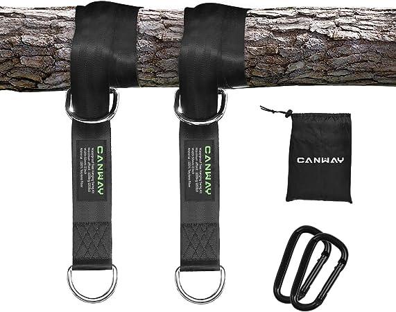 Pair Heavy Duty Swing Hanging Straps Belt Outdoor Hammock Tree Straps Tree Strap