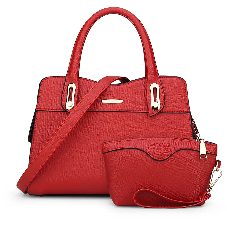 bag4you Women 's Designer Work Tote Purse B01H838026  レッド