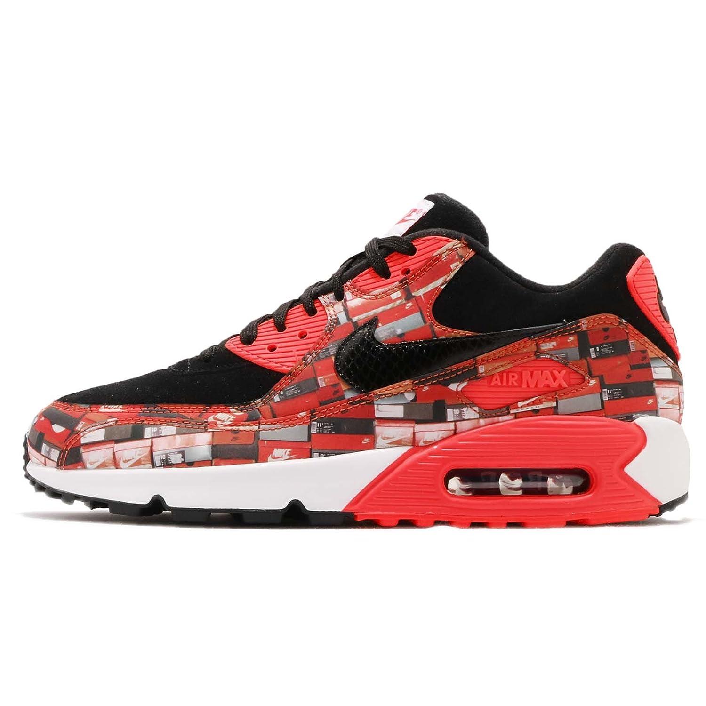 (ナイキ) エア マックス 90 PRNT メンズ ランニング シューズ Nike Air Max 90 PRNT AQ0926-001 [並行輸入品] B07DJ38HG7 28.0 cm BLACK/BRIGHT CRIMSON-WHITE