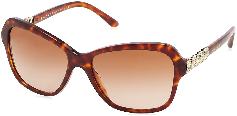 8236bc58fe Bvlgari Sunglasses 8142B 526813 Blonde Havana Brown Gradient at Amazon  Men s Clothing store