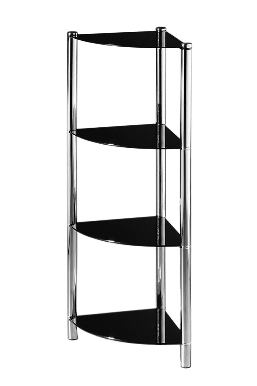 Amazon.com: Premier Housewares 4 Tier Corner Shelf Unit with Black ...