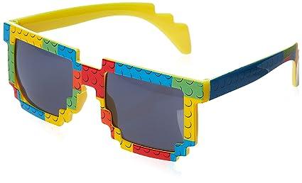 dfe0b460e5 Amazon.com  Party Ninja Brick-Theme Sunglasses for Lego-Loving Kids ...