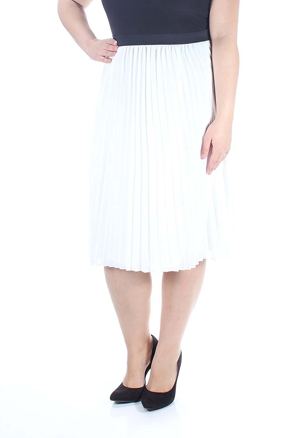 c6016610e0 Tommy Hilfiger Women's Pleated A-Line Skirt (XL, White) at Amazon Women's  Clothing store: