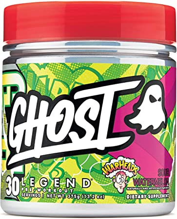GHOST Legend 30 Servings Pre-Workout Supplement (Warheads Sour Watermelon, 1 Container)
