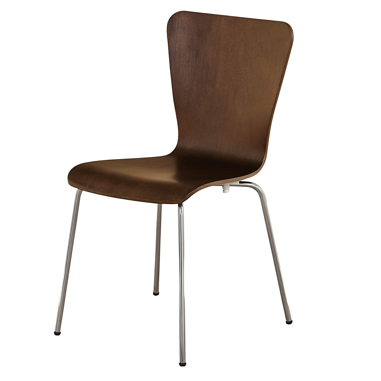 The Mezzanine Shoppe Jacey Modern Bentwood Dining, 1 Chair, Espresso