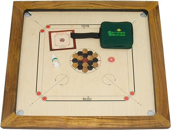 Garden Games Championship Carrom Board: Amazon.es: Juguetes y juegos