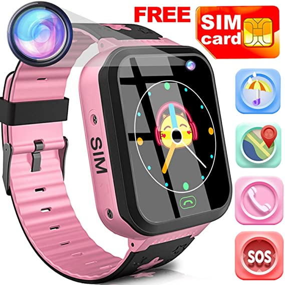 Amazon Com Kids Smart Watch Phone With Free Sim Card Outdoor