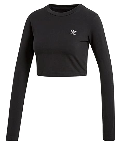 adidas donna t shirt cropped