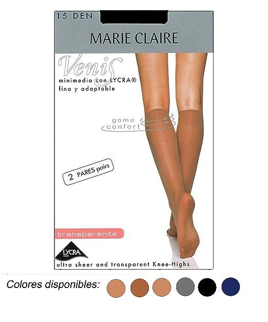MARIE CLAIRE - MINI MEDIA LYCRA 2 PARES mujer: Amazon.es: Ropa y accesorios