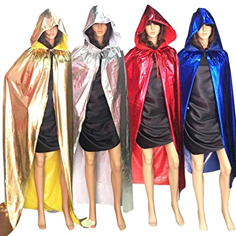 4c3065a554 Amazon.com  vimans Fashion Halloween Cloaks Hooded Cosplay Cape Shawl Robes  Hood  Clothing