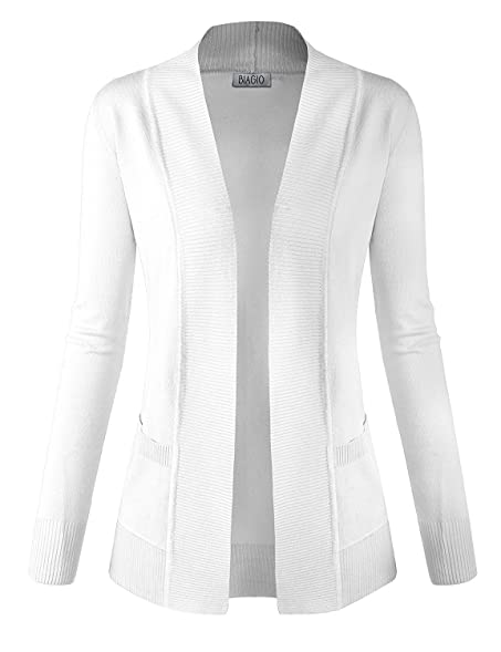BIADANI Women Classic Soft Long Sleeve Open Front Cardigan Sweater ...