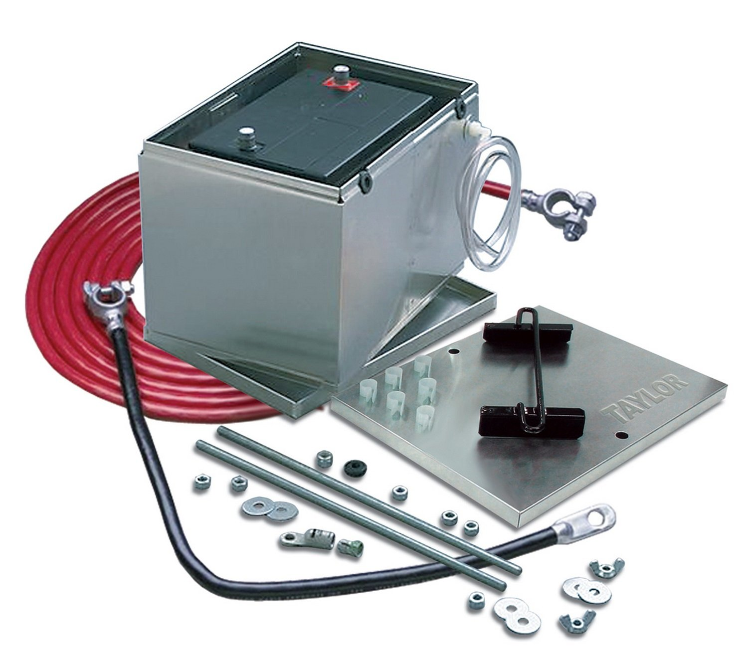 Taylor Cable 48104 Aluminum Battery Box with 1-Gauge Welding Cable Kit by Taylor Cable