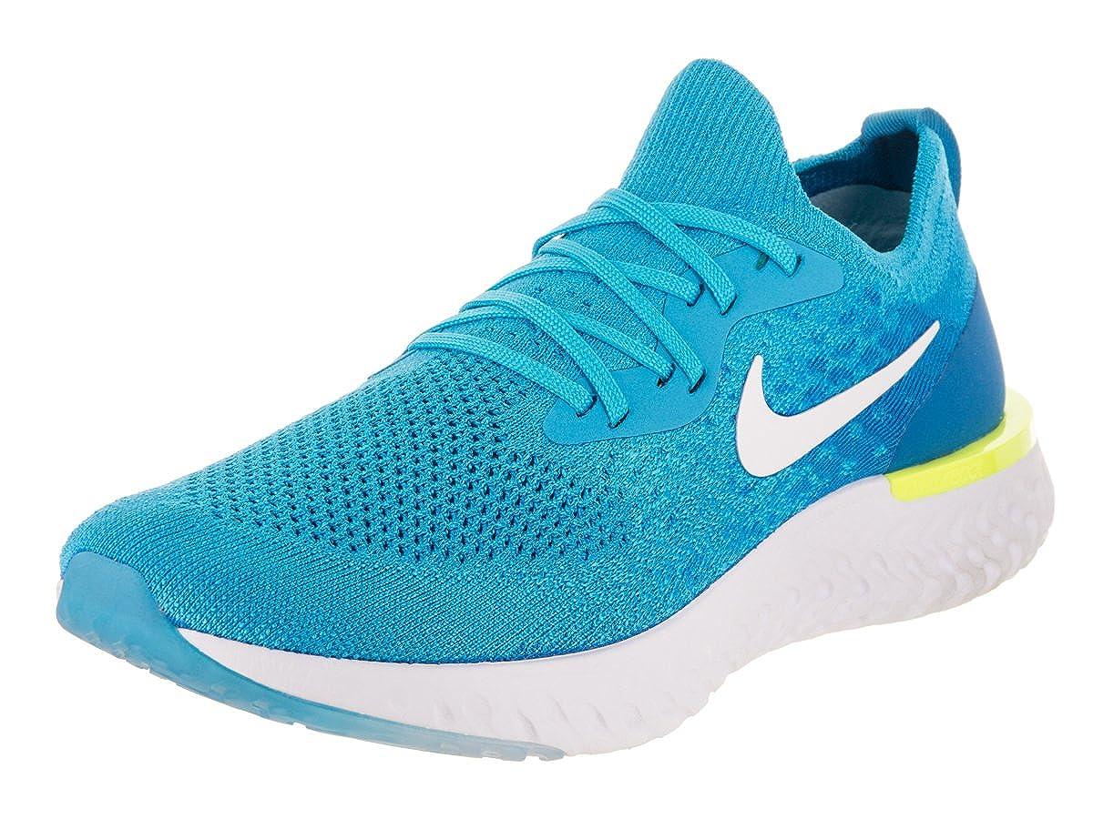Nike Men's Epic React Flyknit Running Shoe 8 Blue