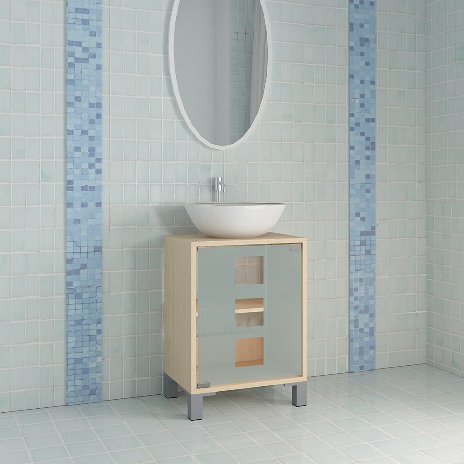 Bathroom Base Cabinet in Two Colours (Beech): Amazon.co.uk: Kitchen ...
