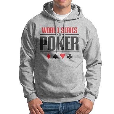16ab7ed8054c Mens White Long Sleeve Pullover Hoodie World Series of Poker Logo Sweatshirt  at Amazon Men s Clothing store