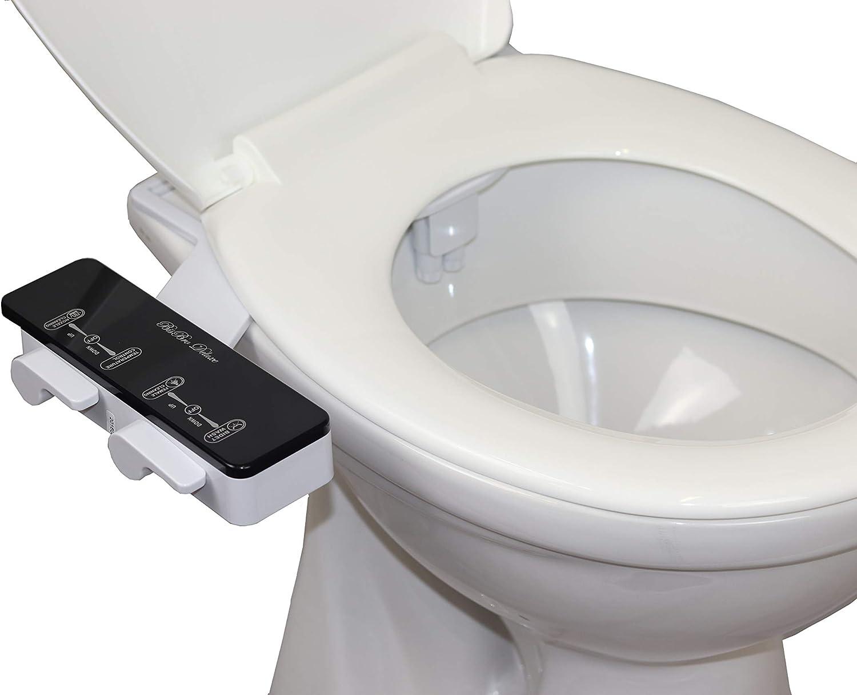 Limpieza con agua BisBro Deluxe Slim Bidet 2082 Funciona sin electricidad Ducha-bid/é de WC con agua caliente para la higiene /íntima