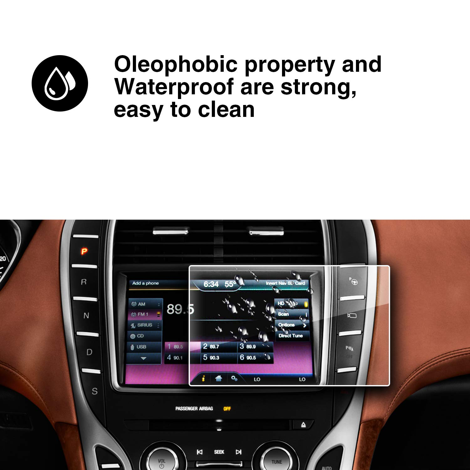 YEE PIN 2015-2019 Lincoln MKC MKS Sync 2 Sync 3 App Link 8 inch Navigation Hardened Film Anti-Scratch Anti-Friction HXY .