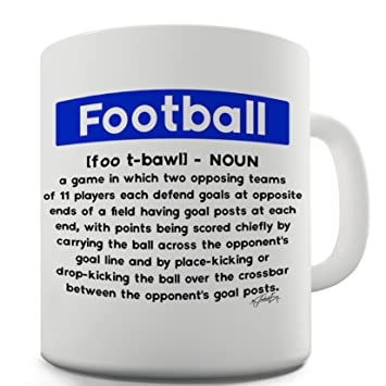TWISTED ENVY Trenzado Envy fútbol definición taza de cerámica de la novedad regalo: Amazon.es: Hogar