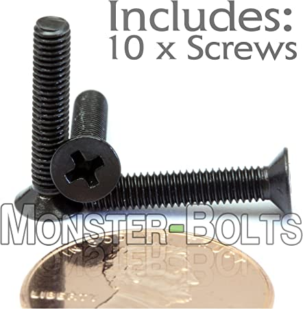 Countersunk DIN 965 M3 x 6mm Stainless Steel Phillips Flat Head Machine Screws