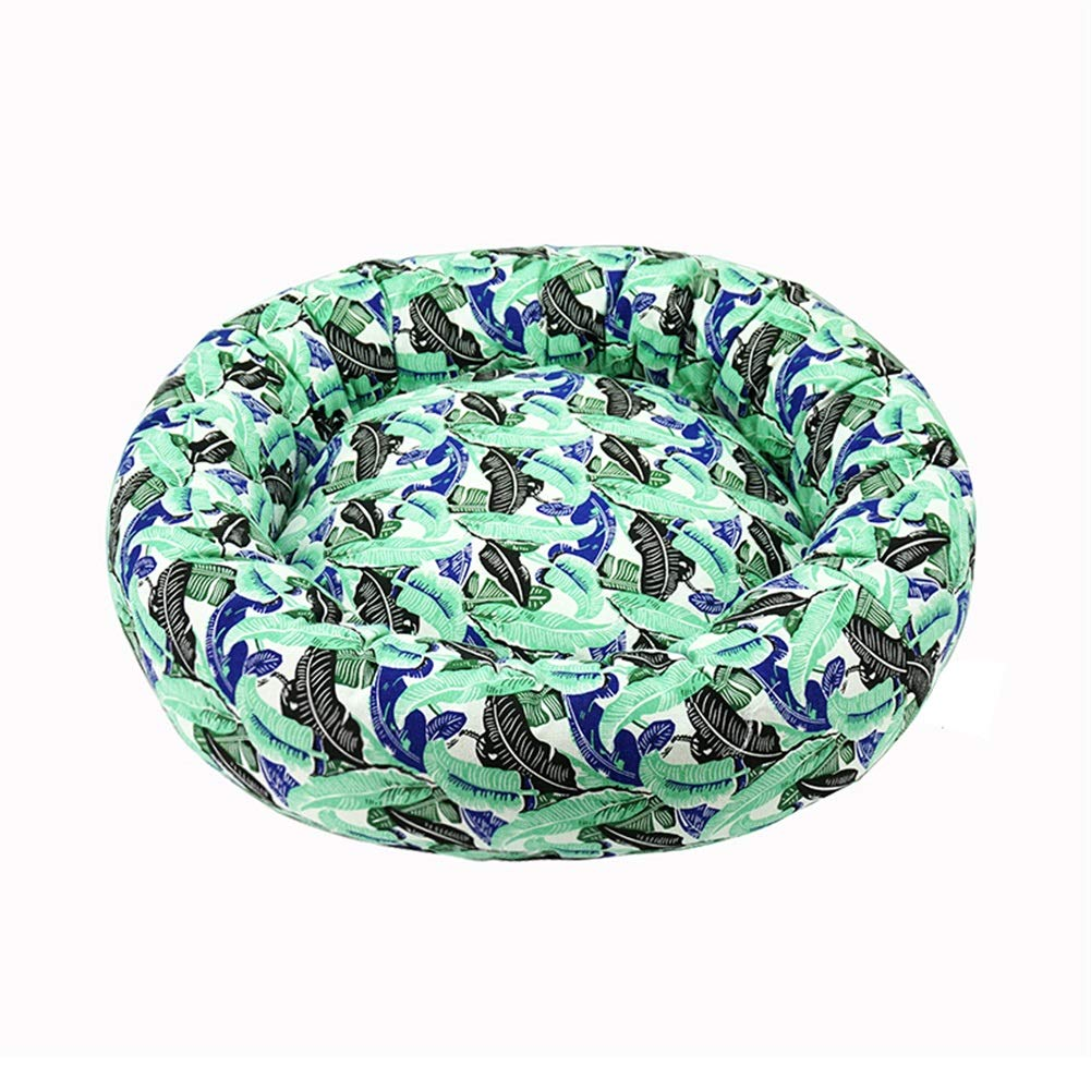 GREEN M GREEN M Ryan Dog Bed, Soft Warm Remable and Wasable Winter Soft Pad for Medi Large Dog Bed Pet Nest (Colore: GREEN, Dimensione: M)
