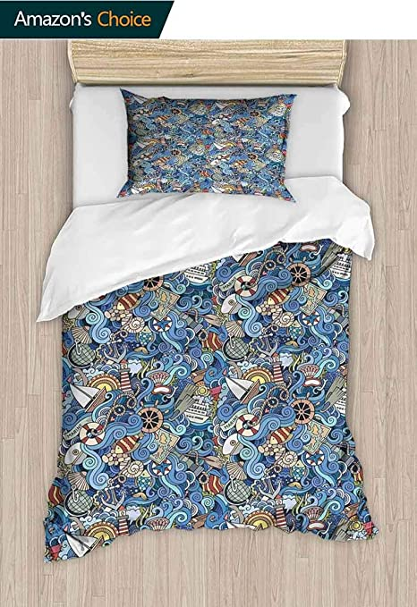 Amazon Com Nautical Decor Diy Quilt Cover And Pillowcase