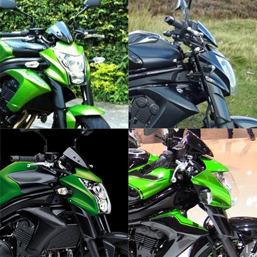 MTSBW Motorrad-Scheinwerfer Motorrad-Scheinwerfer Lampshade Scheinwerfer Scheinwerfer Montage Geeignet F/ür Kawasaki ER6N,Schwarz