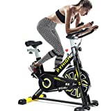 PYHIGH S2 Belt Drive Indoor Cycling Bike Exercise Indoor Workout Bike Stationary Cycle Bicycle for Home Cardio Gym Training