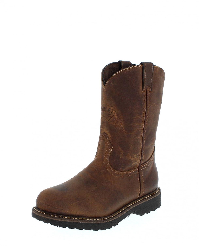 Botas americanas - Botas de trabajo BO-5173-EEE (pie fuerte) - Hombre - Piel - Marrón: Amazon.es: Zapatos y complementos