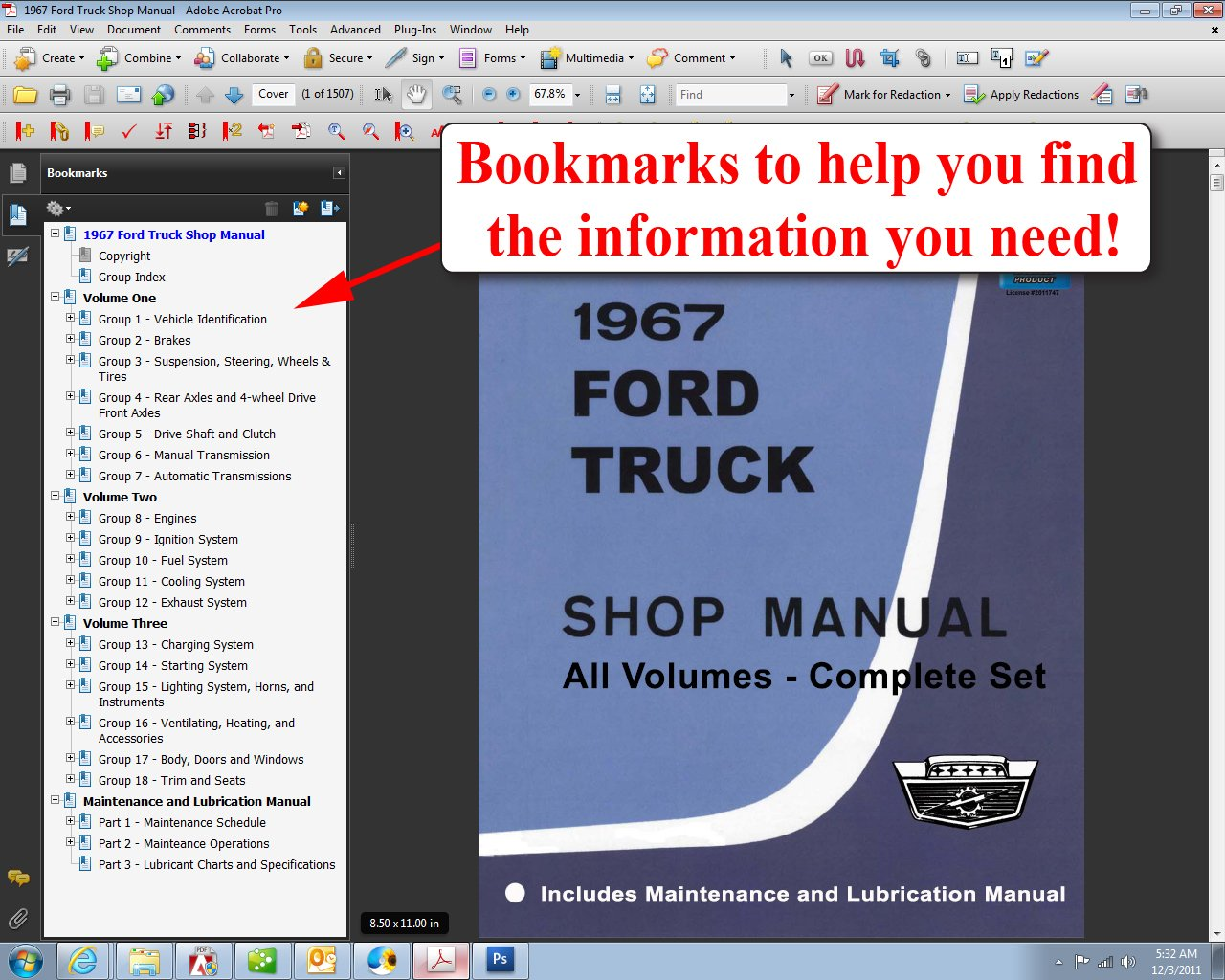 1967 Ford Truck Shop Manual: Ford Motor Company, David E. LeBlanc:  9781603710756: Amazon.com: Books