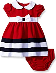 7b1a172b9 Bonnie Baby Baby Girls' Peter Pan Collar Nautical Dress and Panty Set