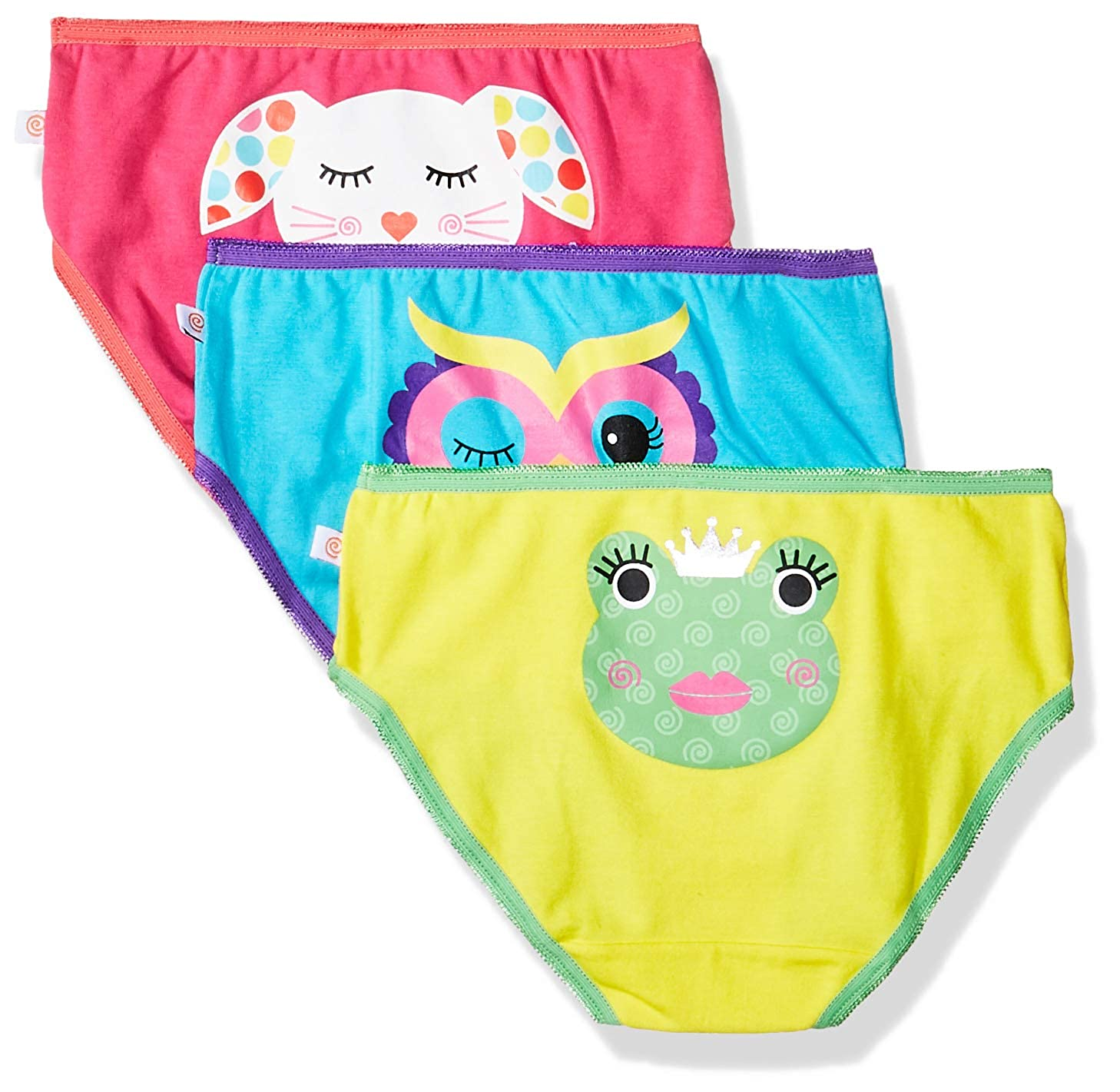 3 Pack Zoocchini Girls Organic Panty Set Ages 2 to 6 Years 100/% Organic Cotton