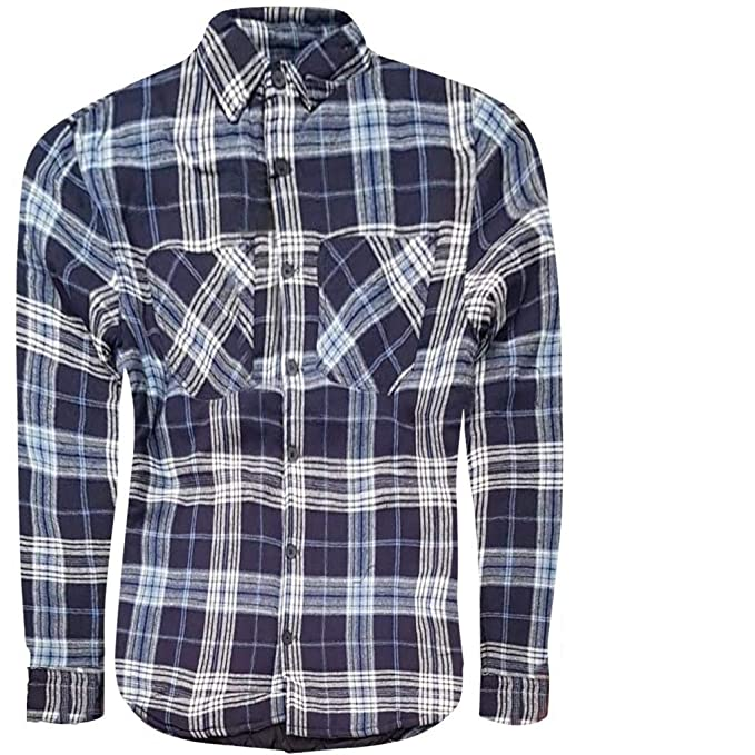 many fashionable clear and distinctive great variety models Mens Padded Quilted Lined Lumberjack Check Flannel Winter Casual Work Shirt