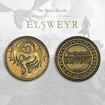 FaNaTtik The Elder Scrolls Online Collectable Coin Elsweyr Coins: Toys & Games