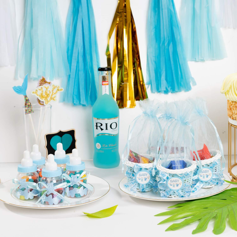 Bonita bolsa de regalo con lazos de dibujos animados en forma de botella para centro de mesa, baby shower, fiesta de cumpleaños (paquete de 24 piezas): ...