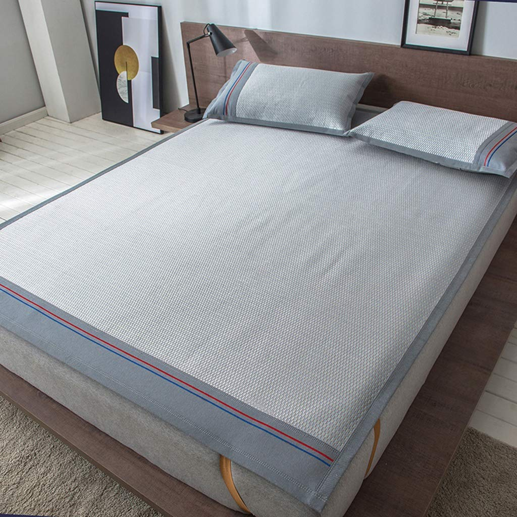 5 180200cm Double-Sided Rattan Mat Three-Piece Summer Folding Summer Ice Silk Double Bed Mat Mat 1.8m Bed 1.5 M (color   05, Size   180  200cm)
