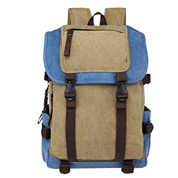 a7a262ffbc58 Amazon.com  Aulain Vintage Canvas Backpack Rucksack Unisex Causual ...