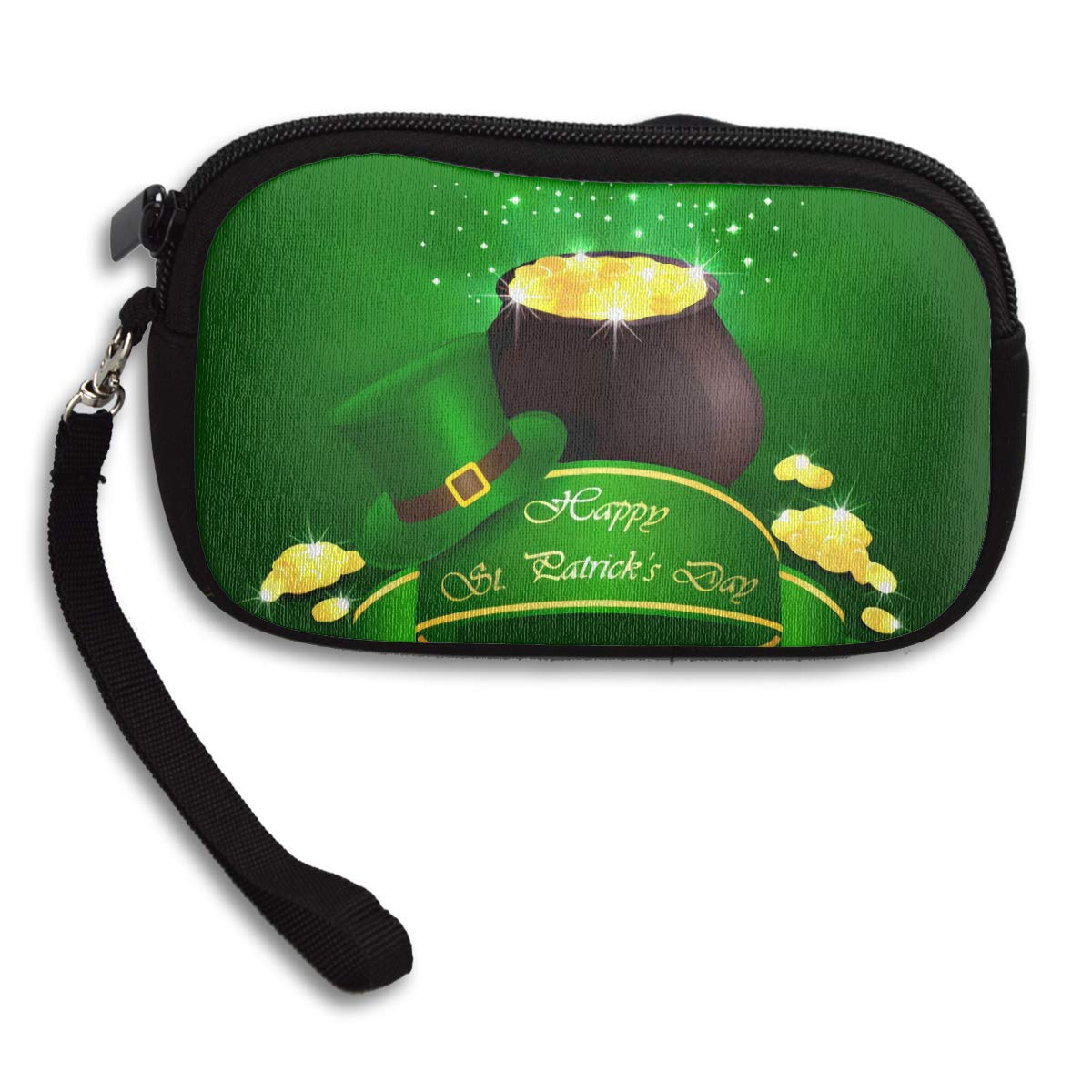 Coin Purse Leprechaun Gold Ribbon Saint Coin Luck Ray Coin Pouch With Zipper,Make Up Bag,Wallet Bag Change Pouch Key Holder