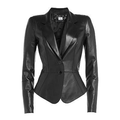 37195864f111 VearFit Fancy Black Casual PU leather jacket for women Missy Regular   Plus  Size