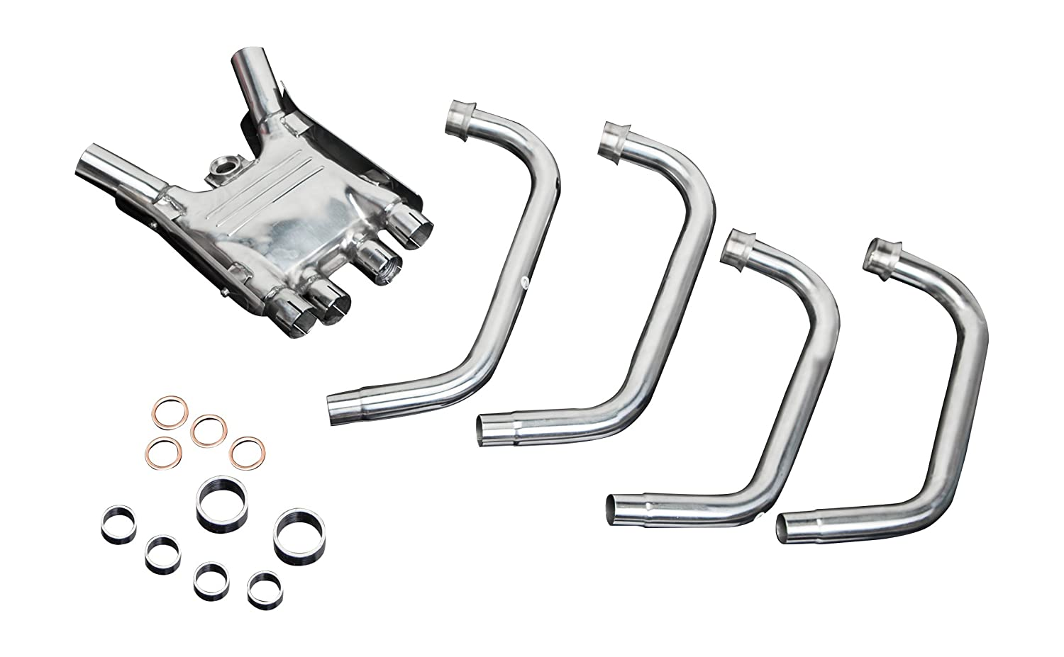 Delkevic Aftermarket Stainless Steel 4-2 Headers and Collector Box compatible with Yamaha XJR1300 1998-2006
