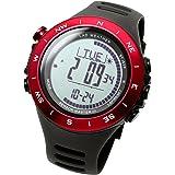 [ラドウェザー]アウトドア腕時計 登山 トレッキング 気圧計 高度計 デジタルコンパス 100m防水 スポーツ時計