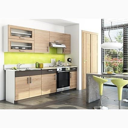 JUSThome Blanka Cucina componibile Cucina Colore: Sonoma Guercia ...