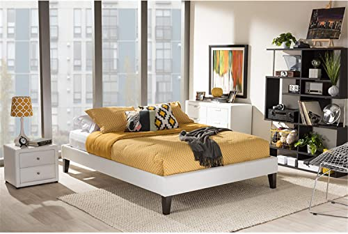 Baxton Studio Lancashire Modern And Contemporary Faux Leather Upholstered Bed Frame