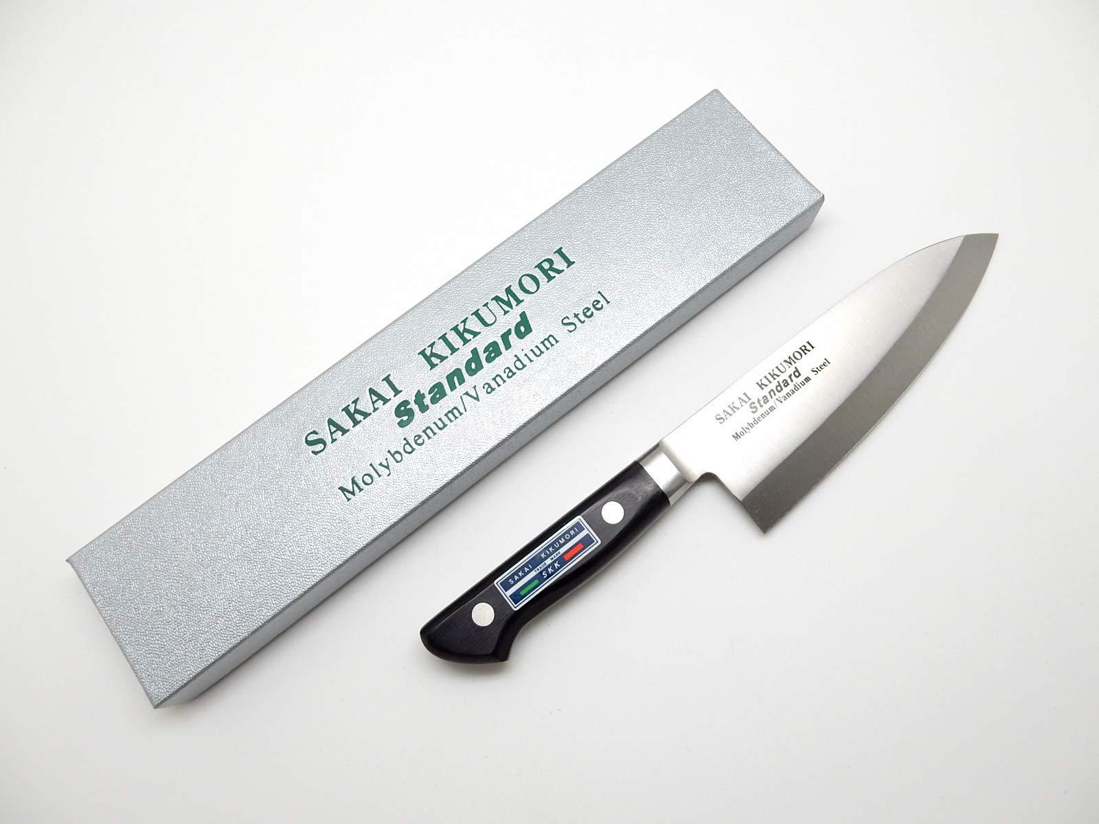 SAKAI KIKUMORI Standard Molybdenum/Vanadium Steel, Japanese Deba Knife 165mm/6.5'' by SAKAI KIKUMORI (Image #7)